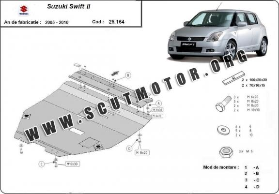 Scut motor metalic Suzuki Swift II
