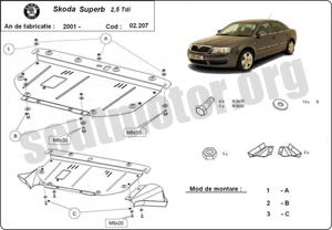 Scut auto Skoda Superb 2001-2008