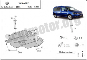 Scut motor metalic VW Caddy dupa 2011