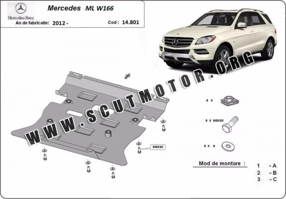 Scut motor metalic Mercedes ML W166