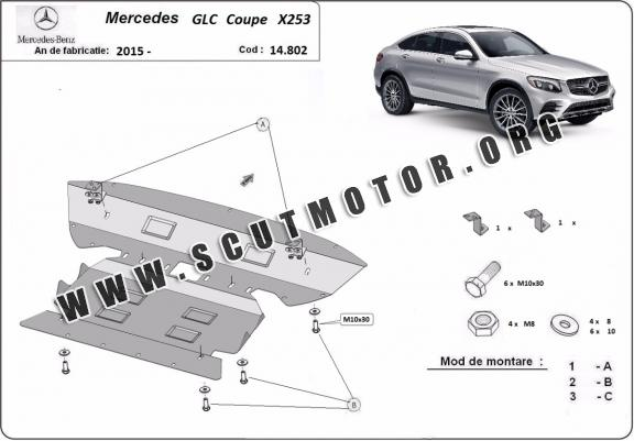 Scut motor metalic Mercedes GLC Coupe X253