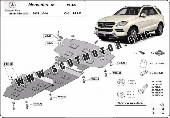 Scut motor metalic Mercedes ML W164