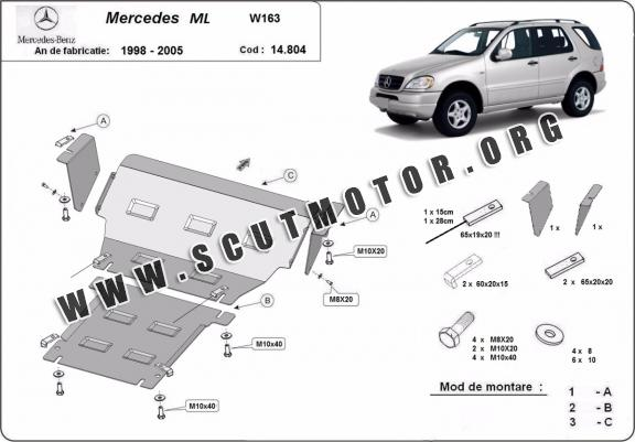 Scut motor metalic Mercedes ML W163
