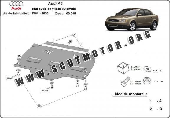 scut metalic cutie de viteza automata audi a4 2 2001