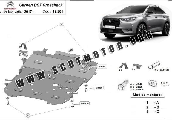 Scut motor metalic Citroen DS7 Crossback