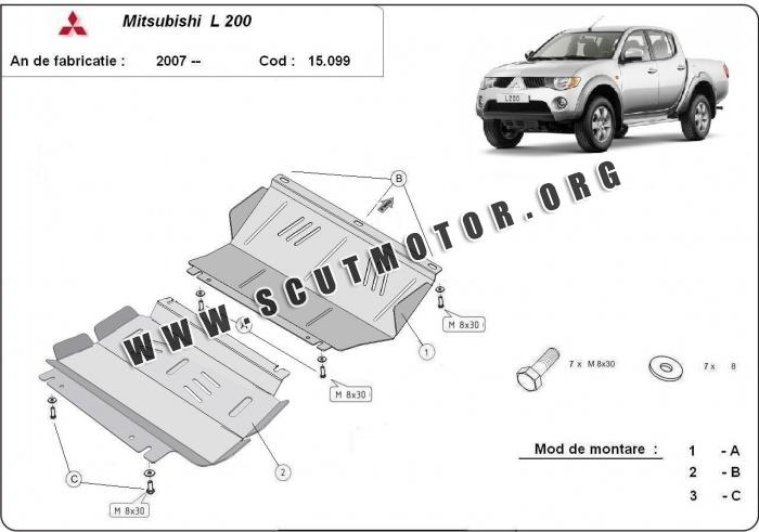 scut motor metalic mitsubishi l200 dupa 2007